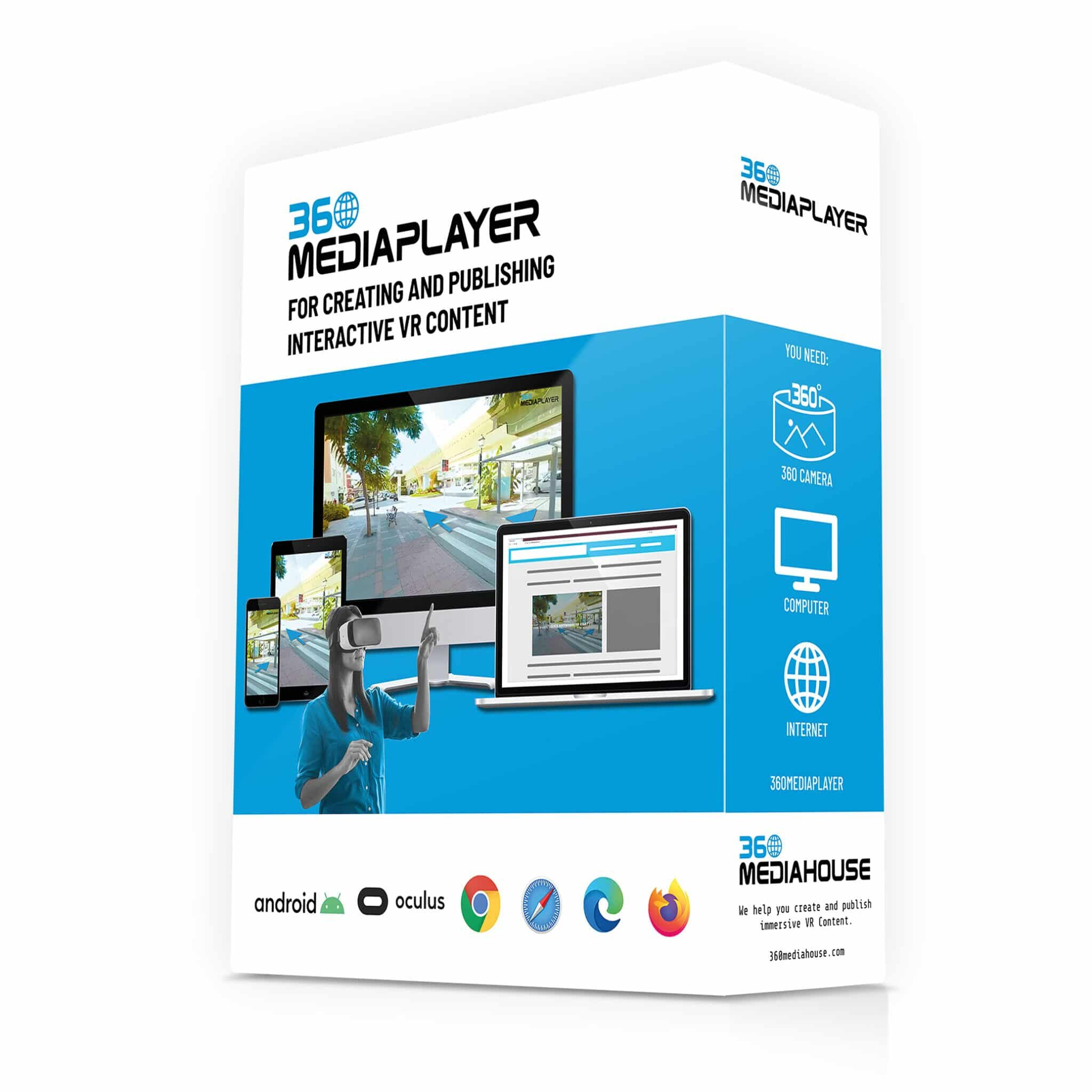 Product launch: 360Mediaplayer software allows anyone to create interactive VR content
